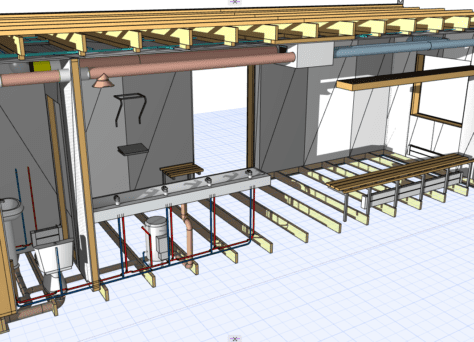 ArchiFrame modeling and MEP modeling 1